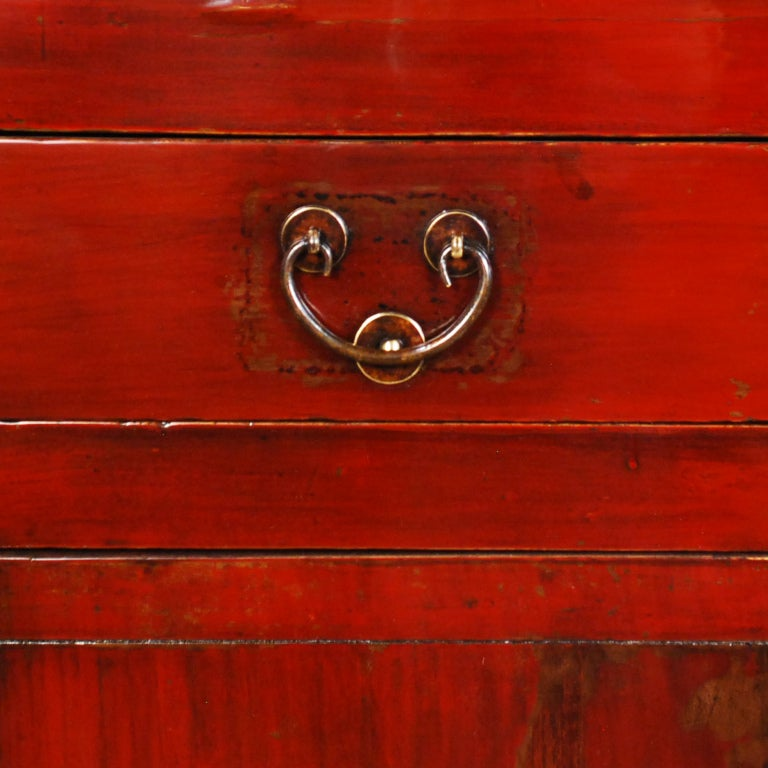 19th Century Chinese Red Lacquered Chest 5