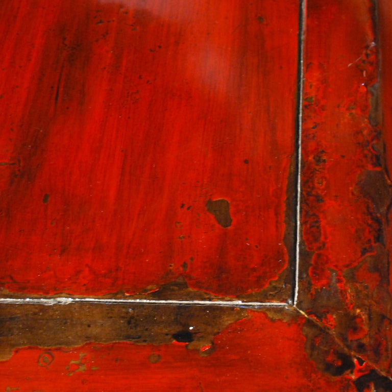 19th Century Chinese Red Lacquered Chest 6