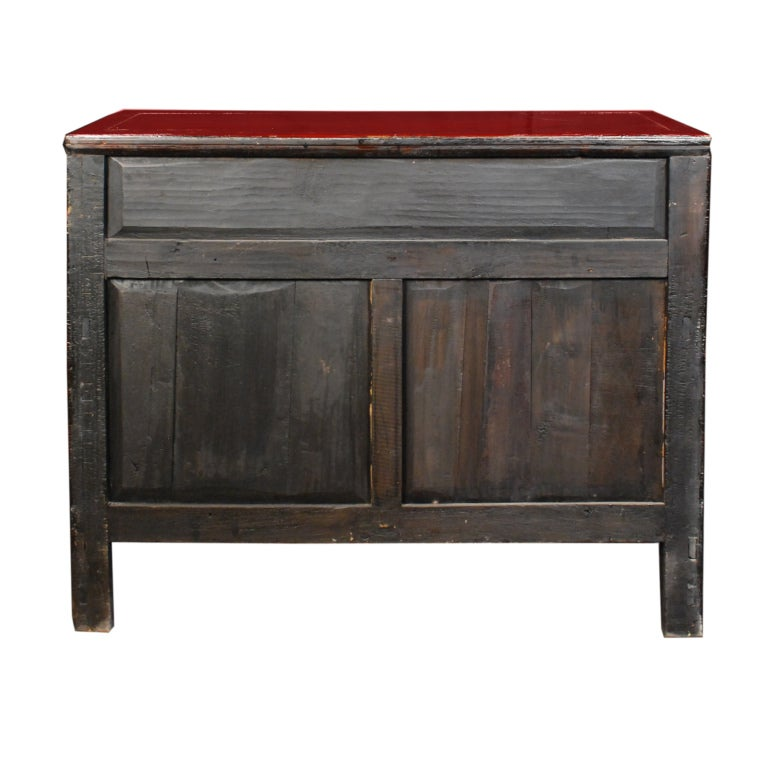 19th Century Chinese Red Lacquered Chest 7