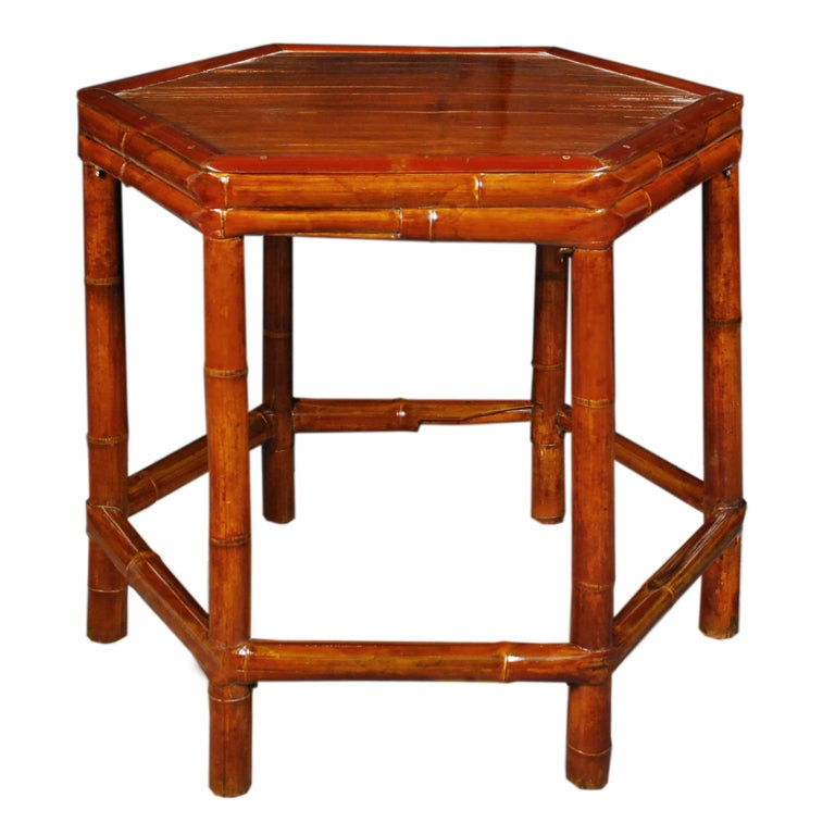 Vintage chinese six sided table for sale at 1stdibs for Antique chinese tables for sale