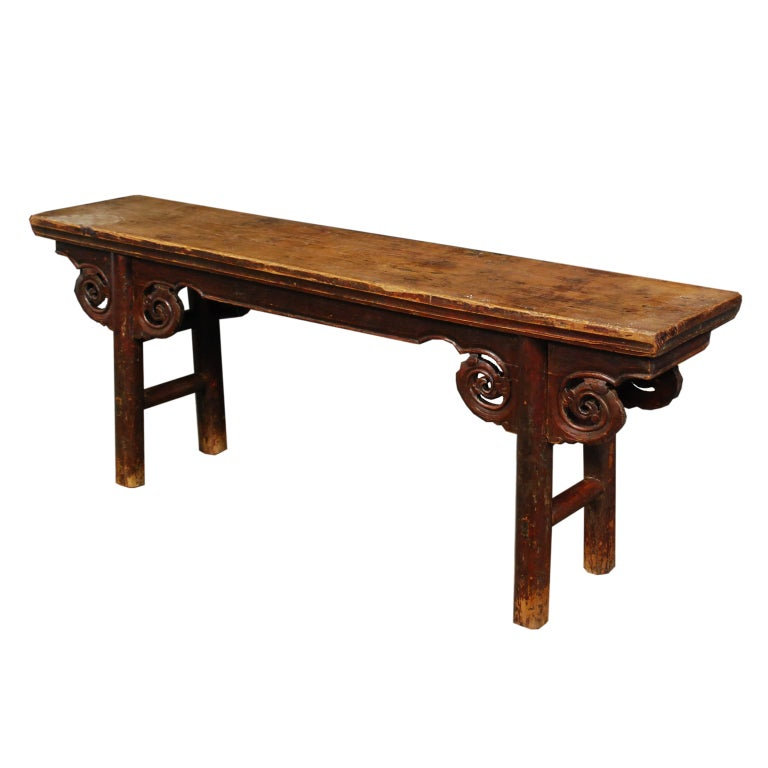 19th Century Chinese Two Person Bench At 1stdibs