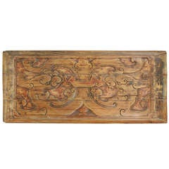 19th Century Chinese Carved Dragon Panel