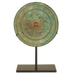 Han Period Bronze Mirror on Stand