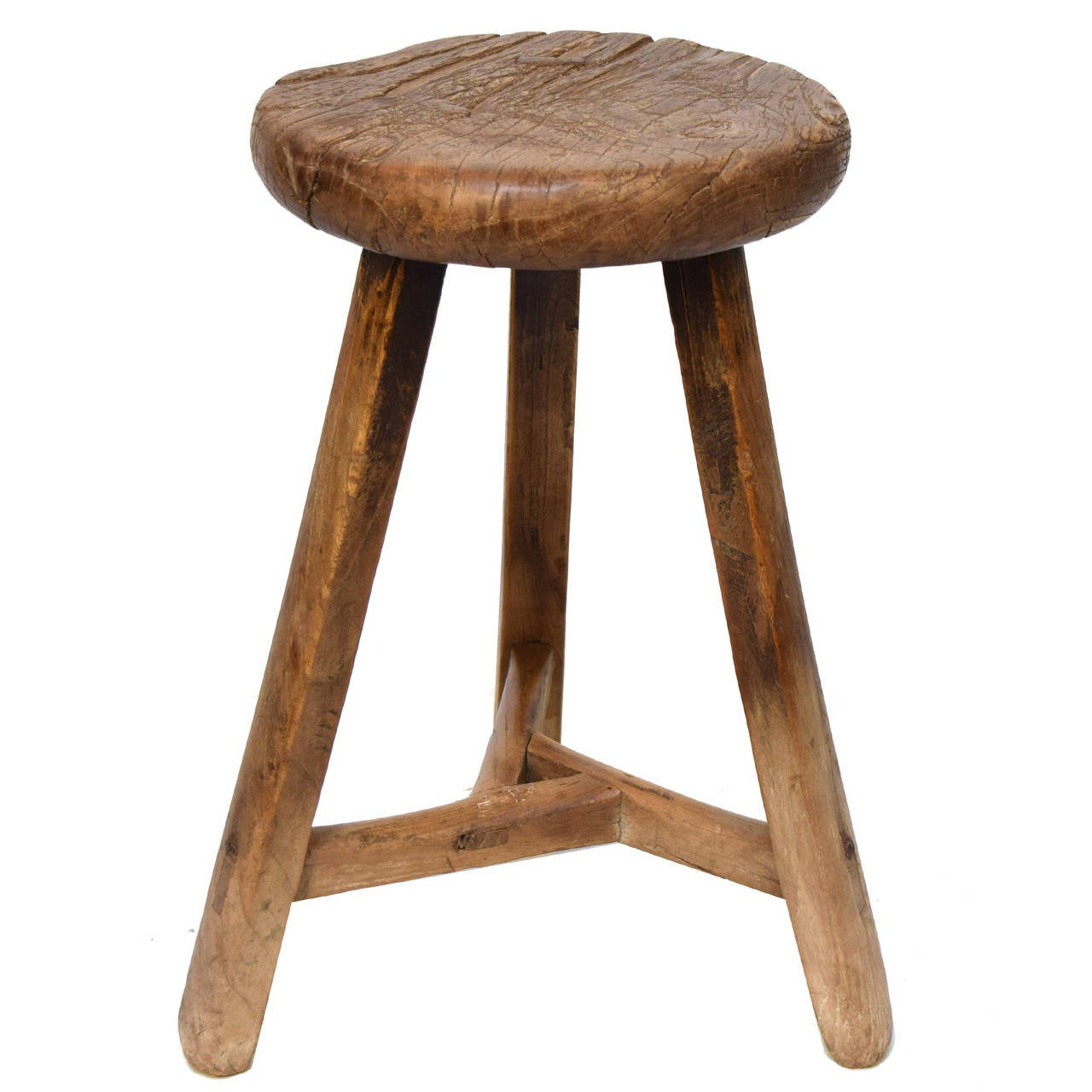 Three Legged Stool ~ Th century chinese round three leg stool at stdibs