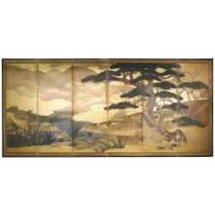 18th Century Kano School Byobu Screen