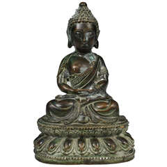 Early 20th Century Tibetan Bronze Buddha