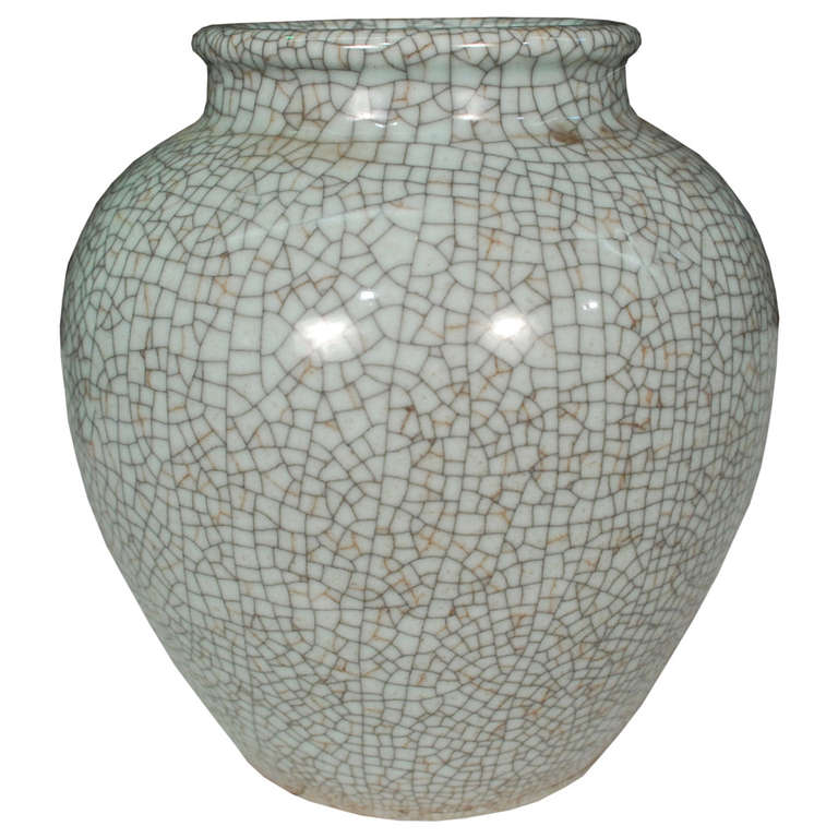 Chinese Celadon Crackle Glazed Jar At 1stdibs
