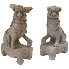 17th Century Chinese Late Ming Dynasty Stone Lions
