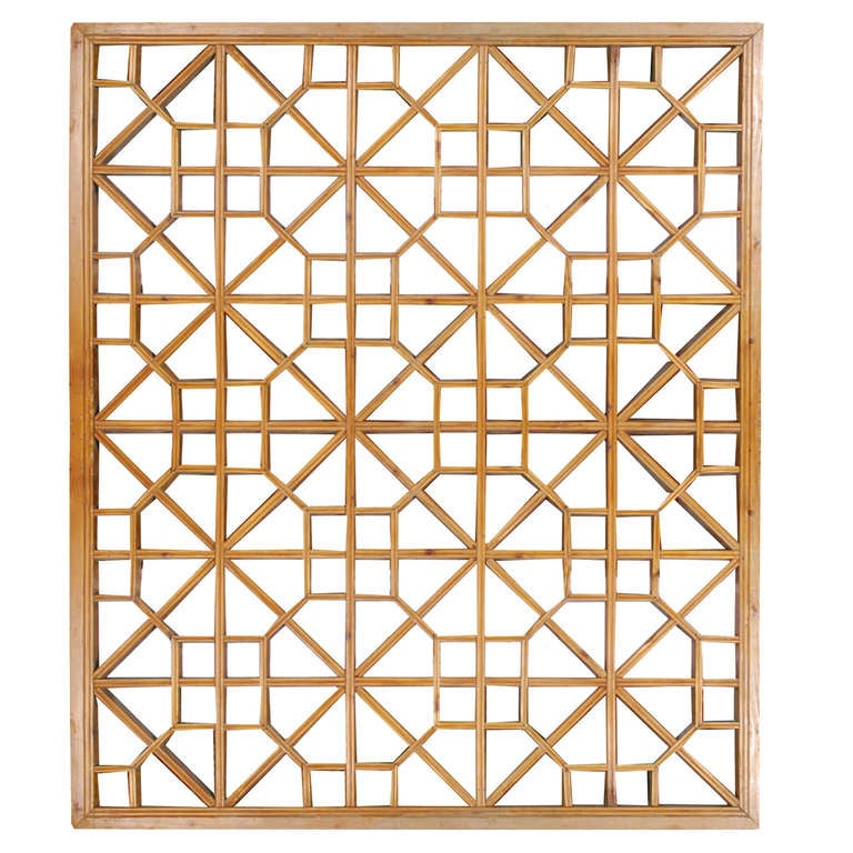 Early 20th Century Chinese Lattice Panel At 1stdibs