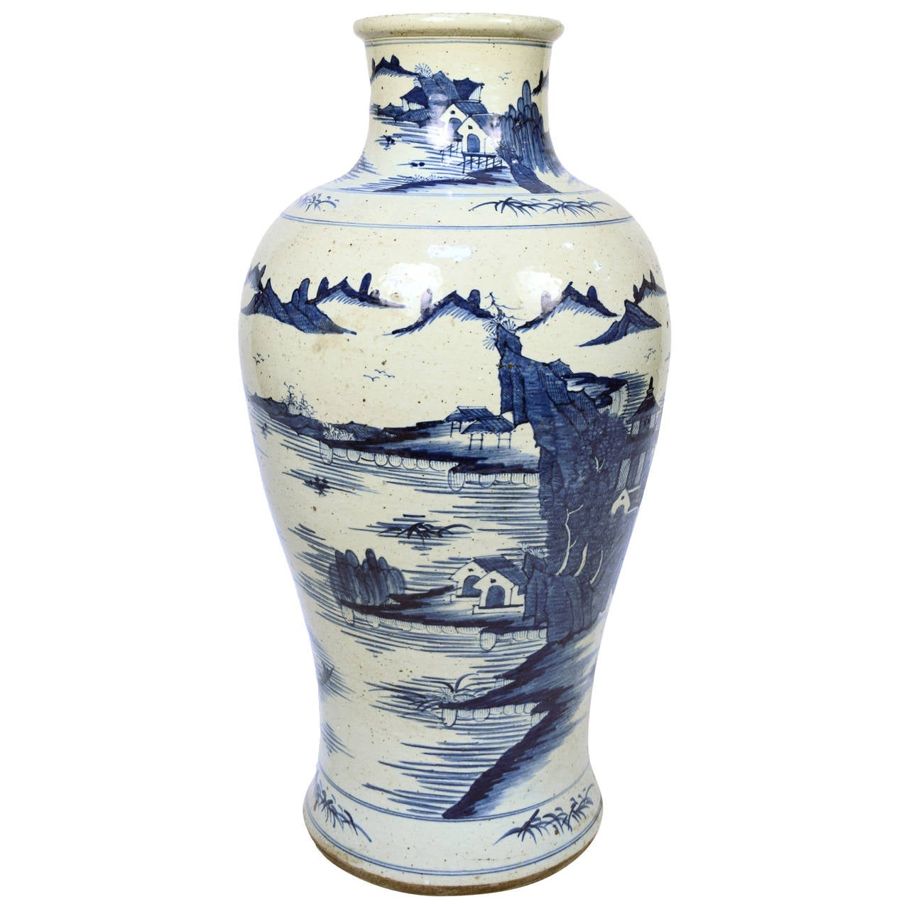 Early 20th century chinese blue and white shan shui vase for sale early 20th century chinese blue and white shan shui vase for sale reviewsmspy