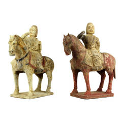 Pair of Northern Qi Dynasty Equestrians