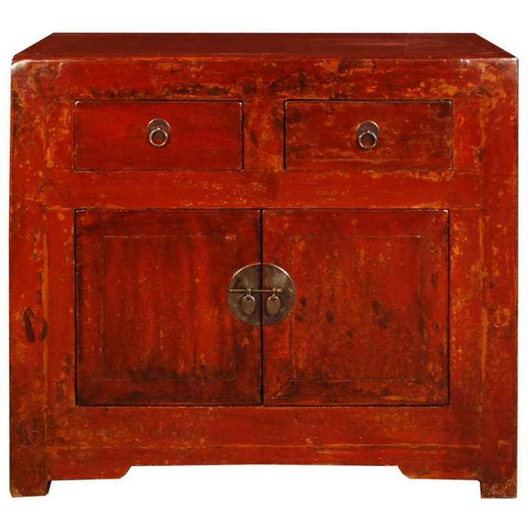 19th century chinese red lacquer chest at 1stdibs for Chinese art furniture