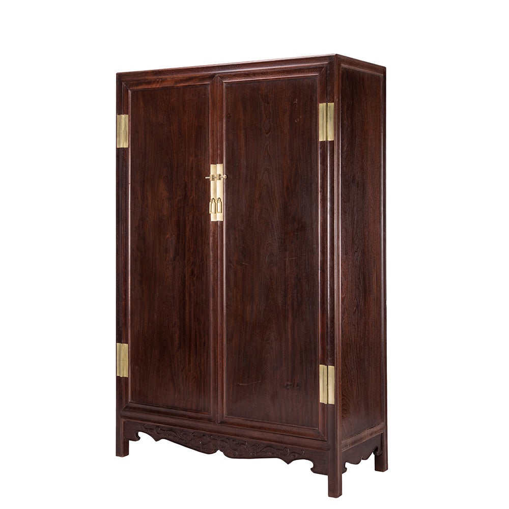 pair of ironwood book cabinets for sale at 1stdibs