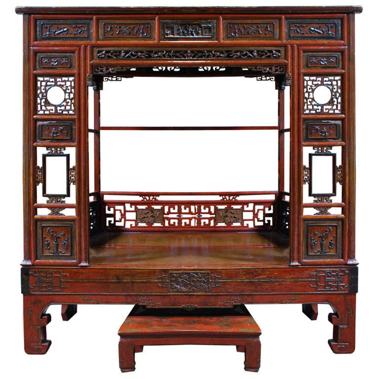 Early 20th Century Chinese Canopy Bed At 1stdibs