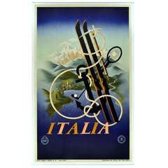 1930s Art Deco poster by Cassandre: Italia (Italy)