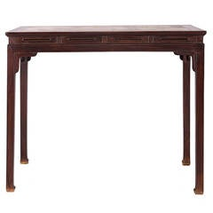Vintage Huali Table with Marble Top