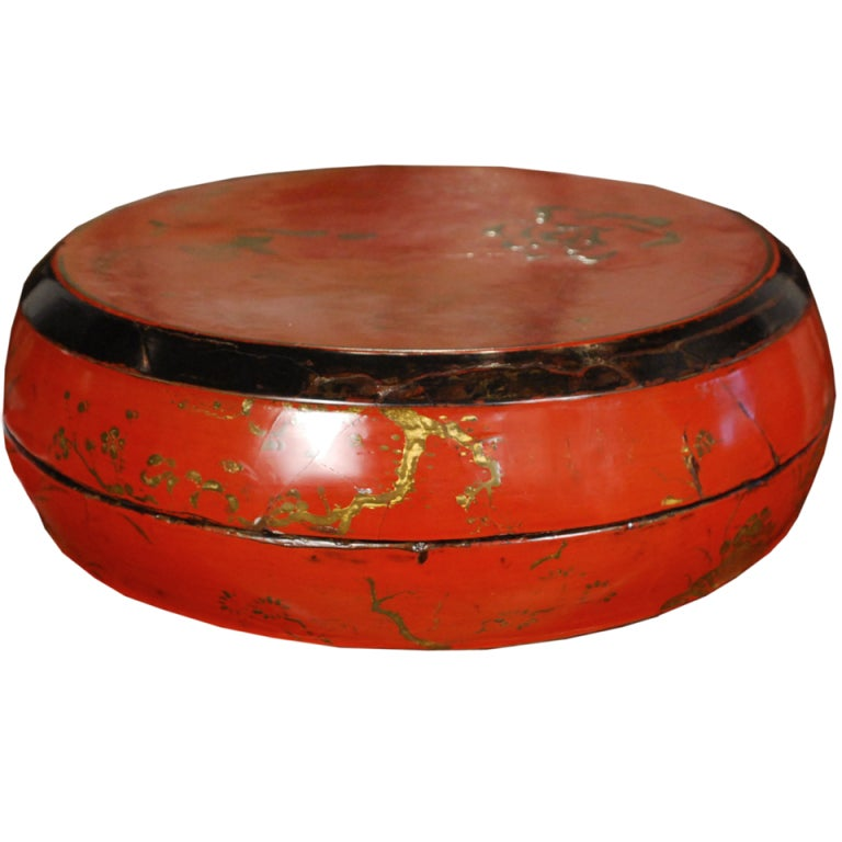 19th century chinese red lacquer peony box at 1stdibs for Red chinese furniture