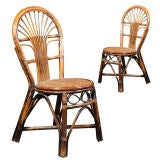 Woven Bamboo and Rattan Chairs
