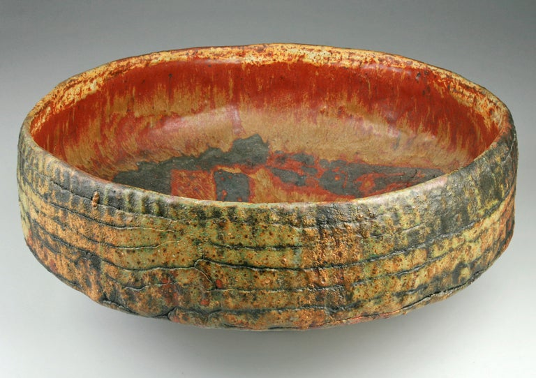 Monumental Hand Built Ruth Duckworth Ceramic Footed Bowl