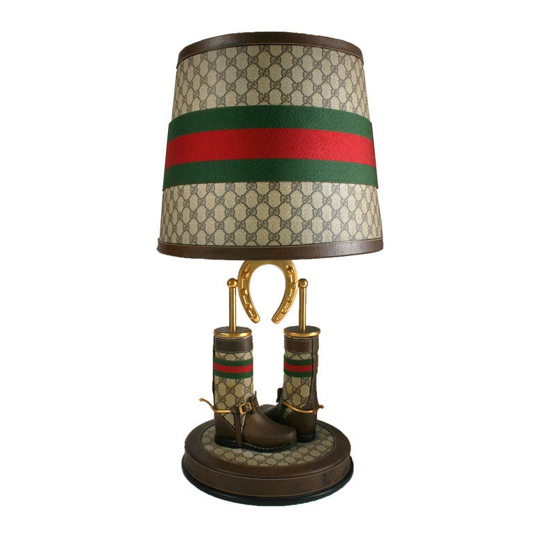 Great Looking Gucci Lamp With Equestrian Motif At 1stdibs