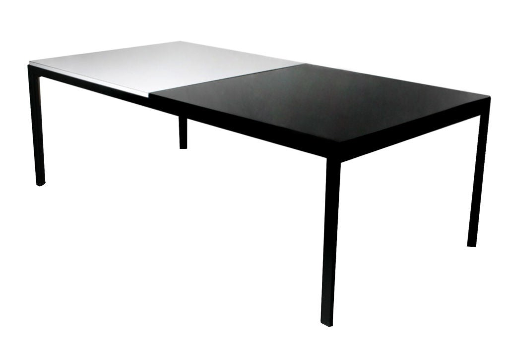 Florence knoll black and white coffee table at 1stdibs Florence knoll coffee table