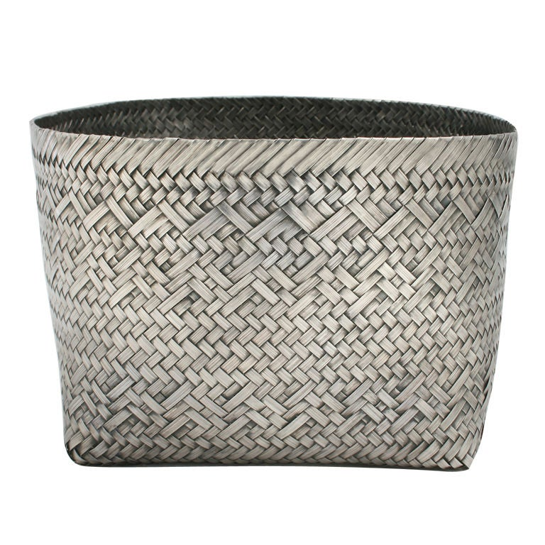 Woven Tiffany Sterling Silver Orchid Basket At 1stdibs