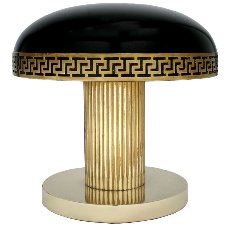 art deco table lamp at 1stdibs. Black Bedroom Furniture Sets. Home Design Ideas