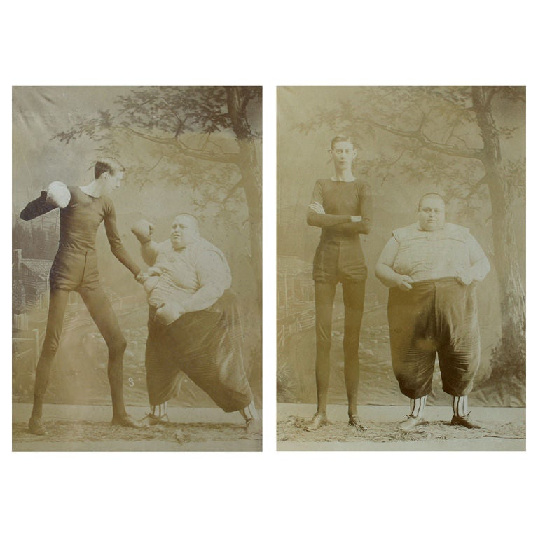 "Pair of  ""Thick and Thin""  Circus Photos"