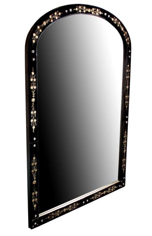 Large black venetian reverse carved mirror for sale at 1stdibs for Black venetian mirror