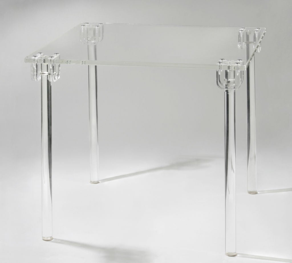 Folding Lucite Game Table By Charles Hollis Jones At 1stdibs