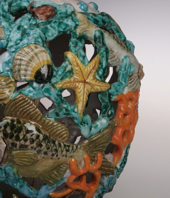 Whimsical Sea Creatures Lamp At 1stdibs