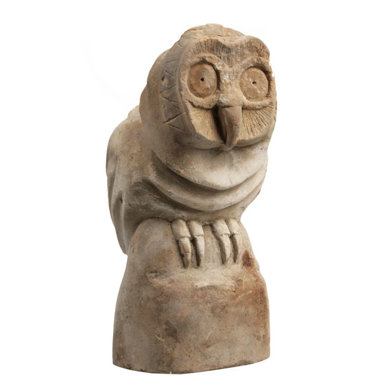 Large carved stone american indian owl effigy pipe at stdibs