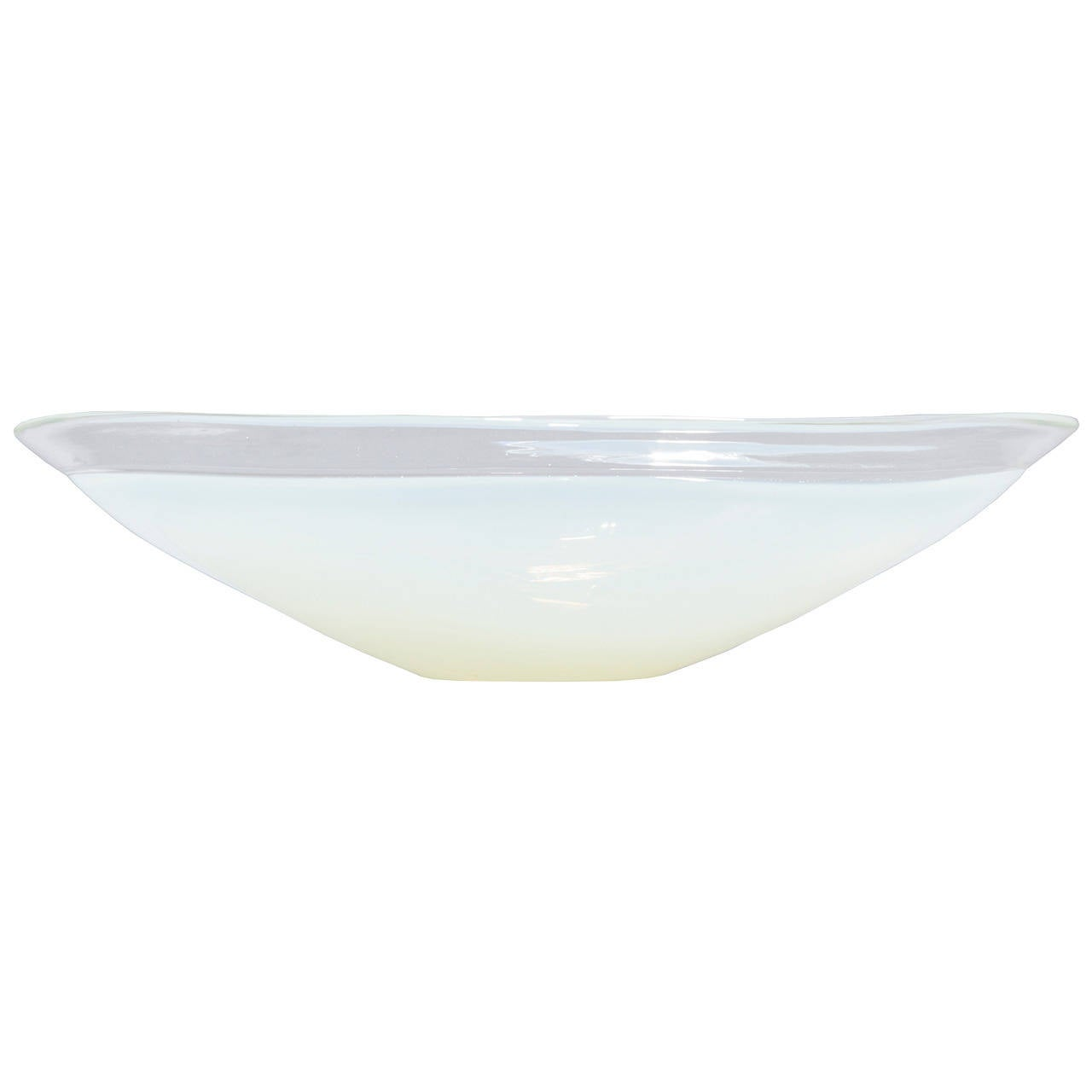 Large opalescent glass centerpiece bowl at stdibs
