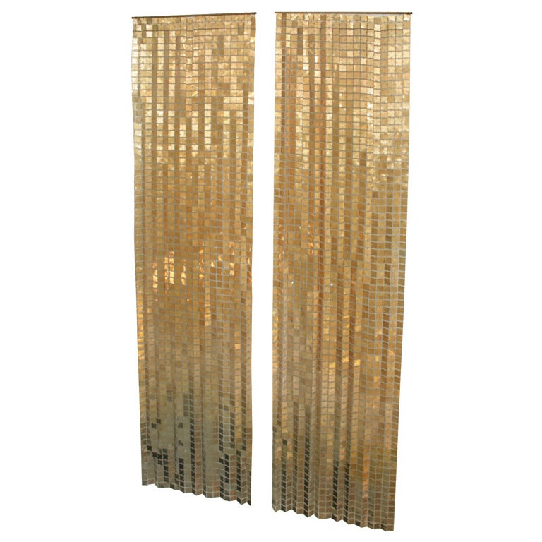 Copper Curtain Wall : Paco rabannne space curtains copper gold to silver
