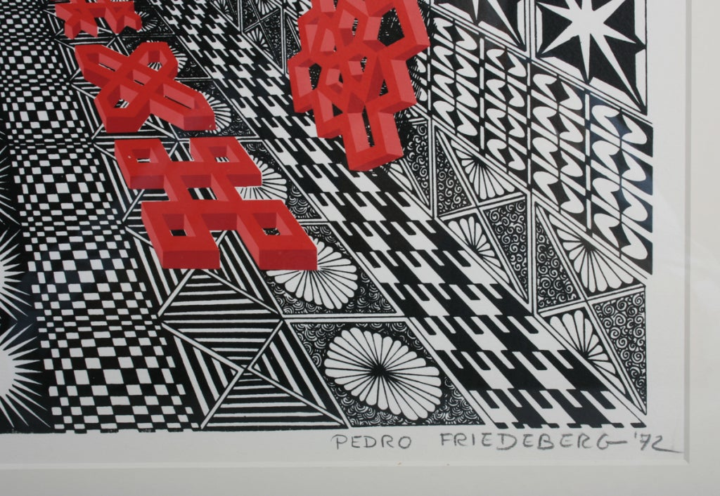 Optical  Pedro Friedeberg  Numbered and Signed Print image 4