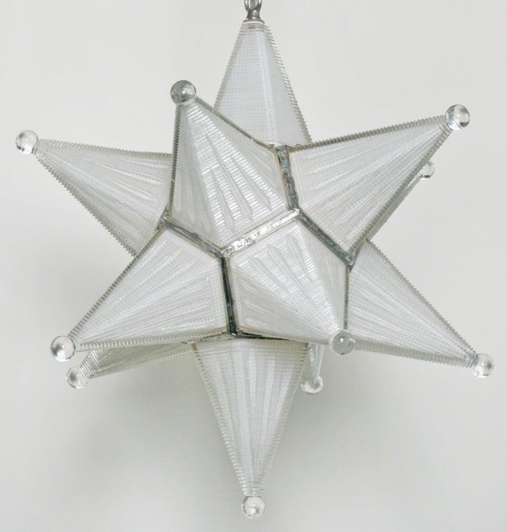 vintage moravian star glass fixture at 1stdibs. Black Bedroom Furniture Sets. Home Design Ideas