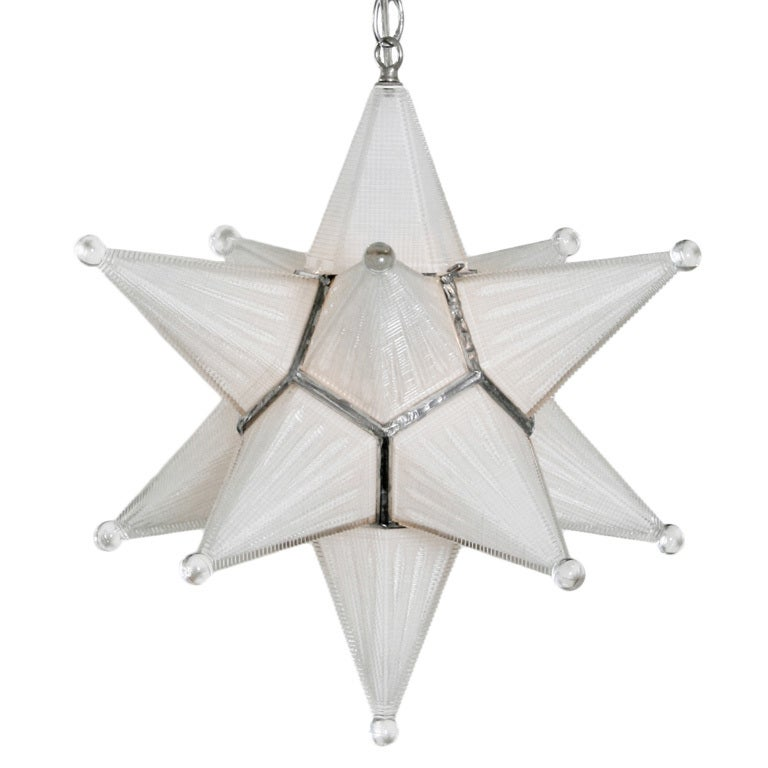 Vintage moravian star glass fixture at stdibs