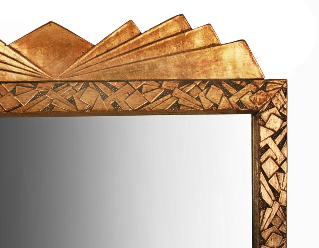 Art deco jazz age geometric gold mirror with cubist design for Art deco era dates