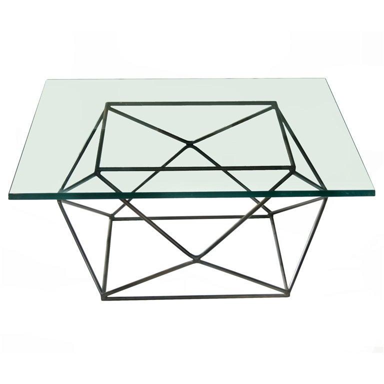 milo baughman geometric coffee table at 1stdibs