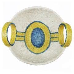 Italian Ceramic Optical Bowl by Gambone for Raymor