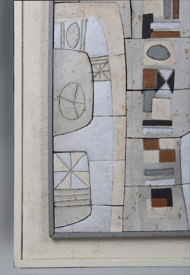 Mid centuty ceramic wall mural by clyde burt at 1stdibs for Ceramic wall mural