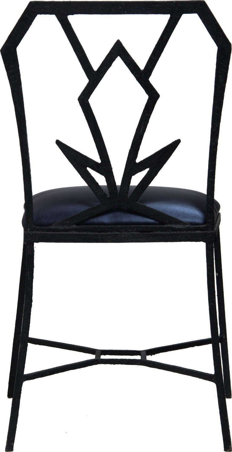 Pair Of Art Deco Iron Chairs At 1stdibs
