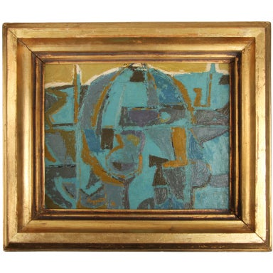 Cubist Abstract Oil Painting by Rudy O. Pozzatti