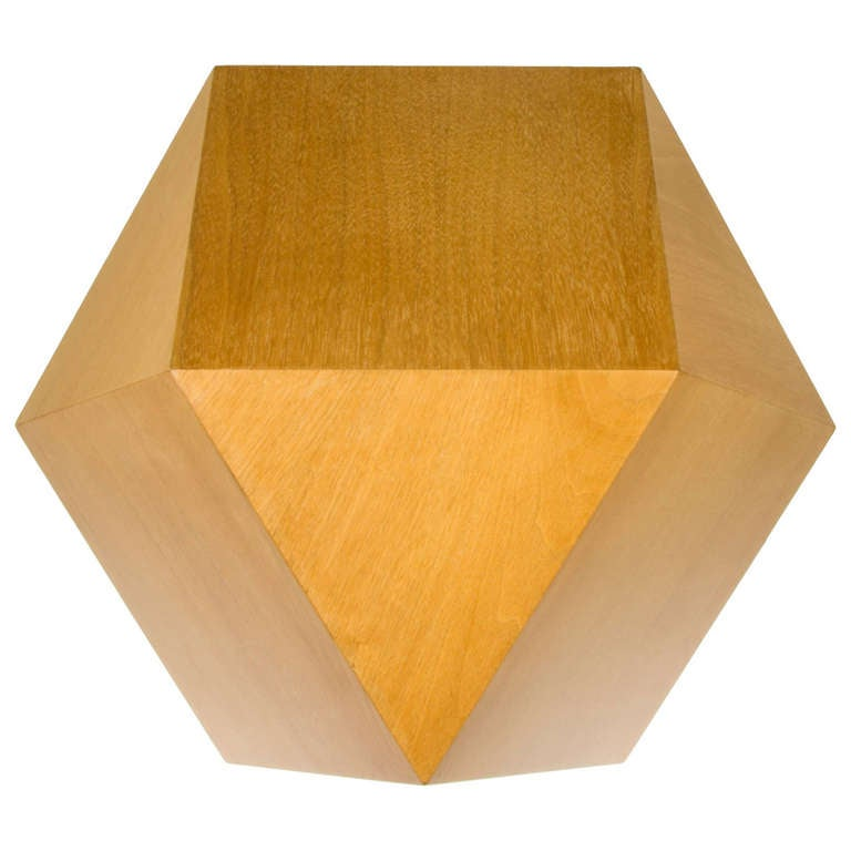 Karl Springer Geometric Side Table At 1stdibs