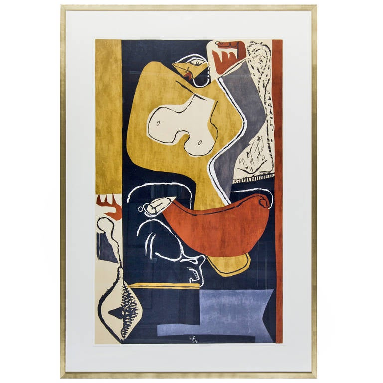 Le corbusier femme a la main leves at 1stdibs - Decoration le corbusier ...