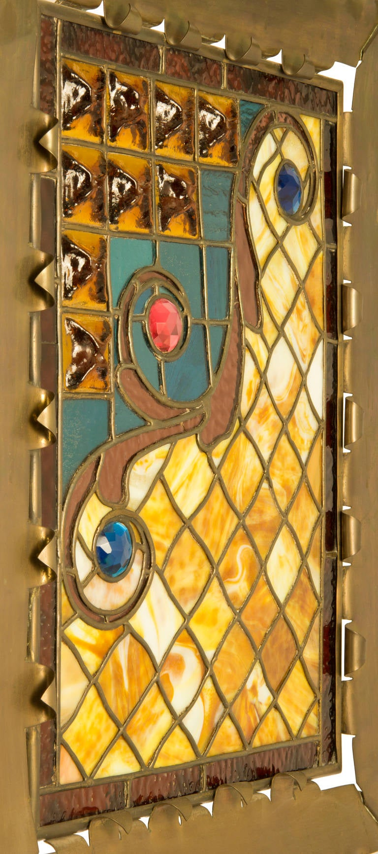 Aesthetic Movement Leaded Glass Fire Screen At 1stdibs