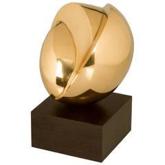 Modernist Polished Bronze Sculpture by Odell Prather