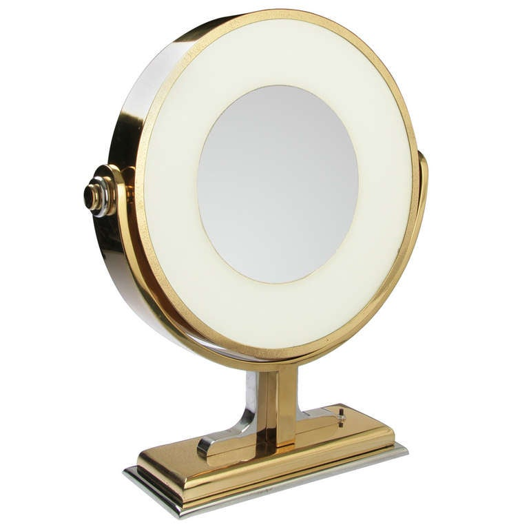 Vanity Light Distance From Mirror : Very Large Karl Springer Vanity MIrror with Light at 1stdibs