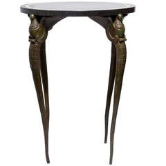Bronze and Slate Cocktail Table after Armand-Albert Rateau