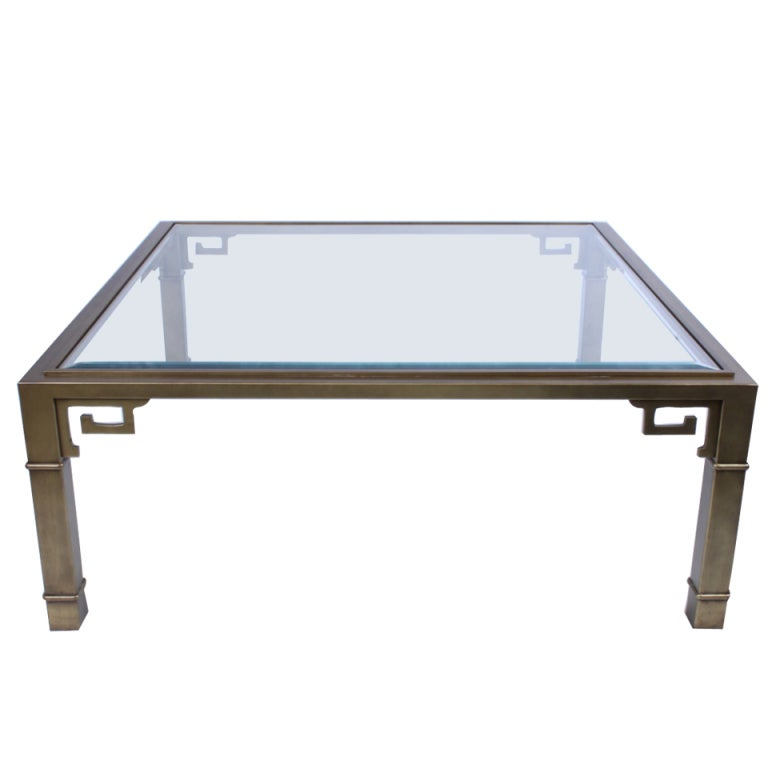 Mastercraft Cocktail Table With Greek Key Details At 1stdibs